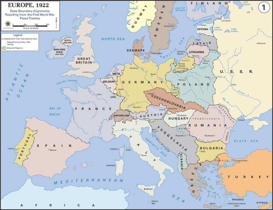 Europa 1922 Sectie Geschiedenis Sint Janslyceum