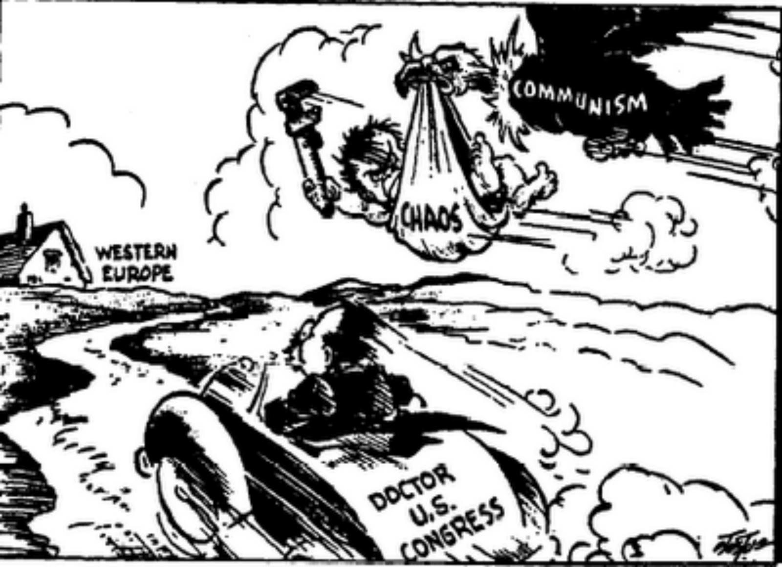 communist cartoon of ww2
