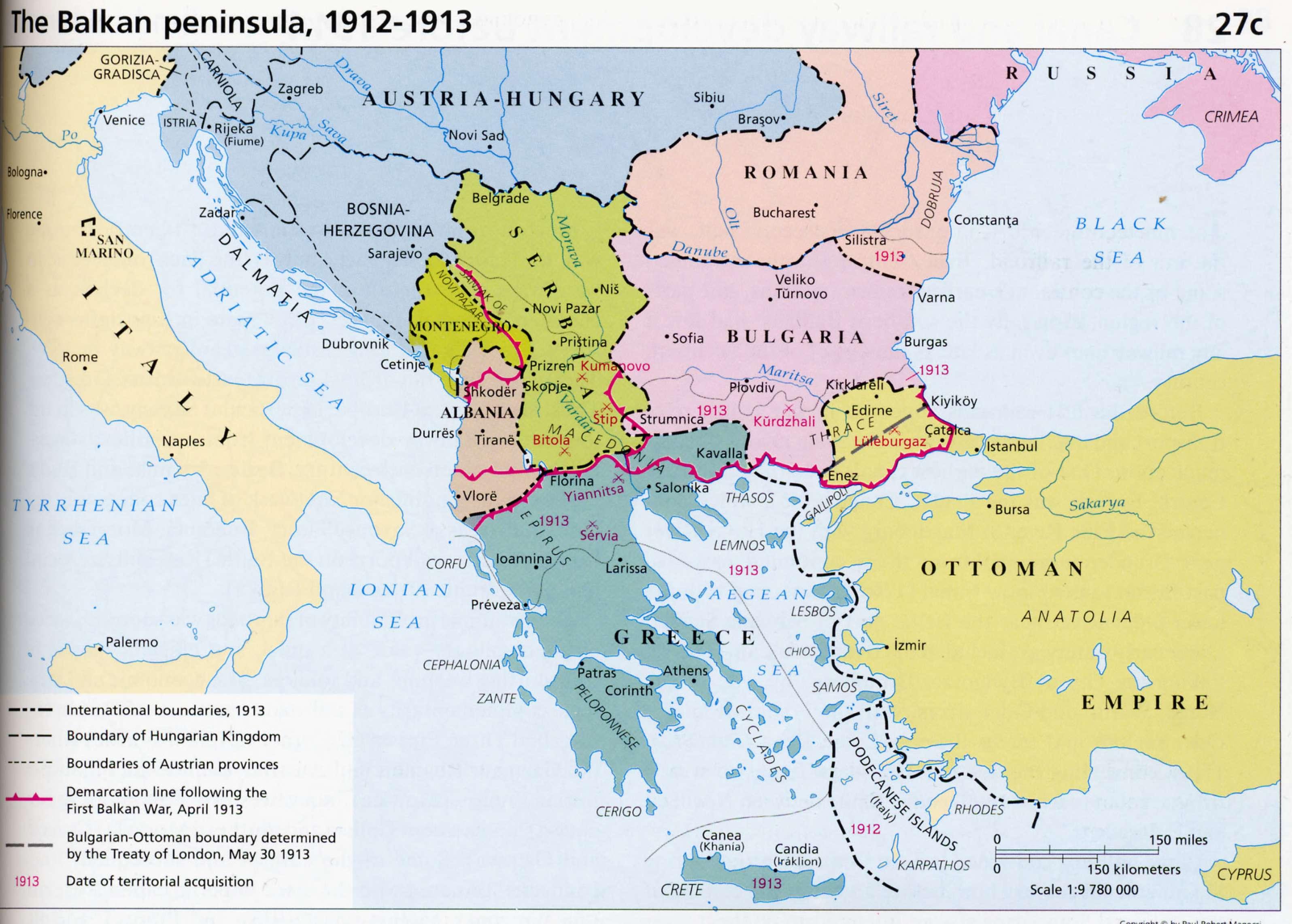 Balkan 1913 Sectie Geschiedenis Sint Janslyceum